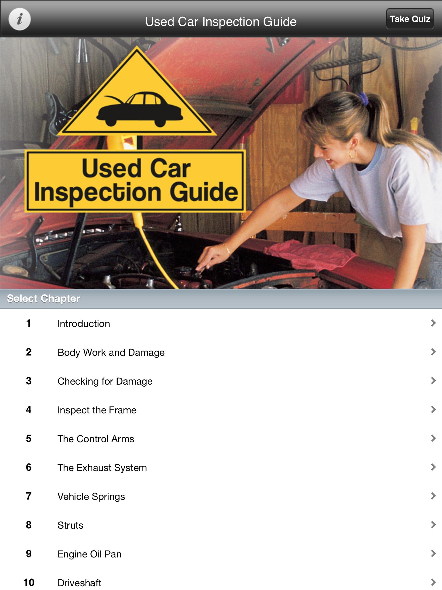 used car inspection guide selectsoft. Black Bedroom Furniture Sets. Home Design Ideas