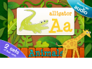 ABC Animal vs. Veggie Flash Cards for Kids
