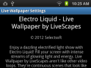 Electro Liquid - Live Wallpaper